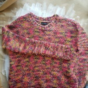 Topshop colorful sweater size 6 women's
